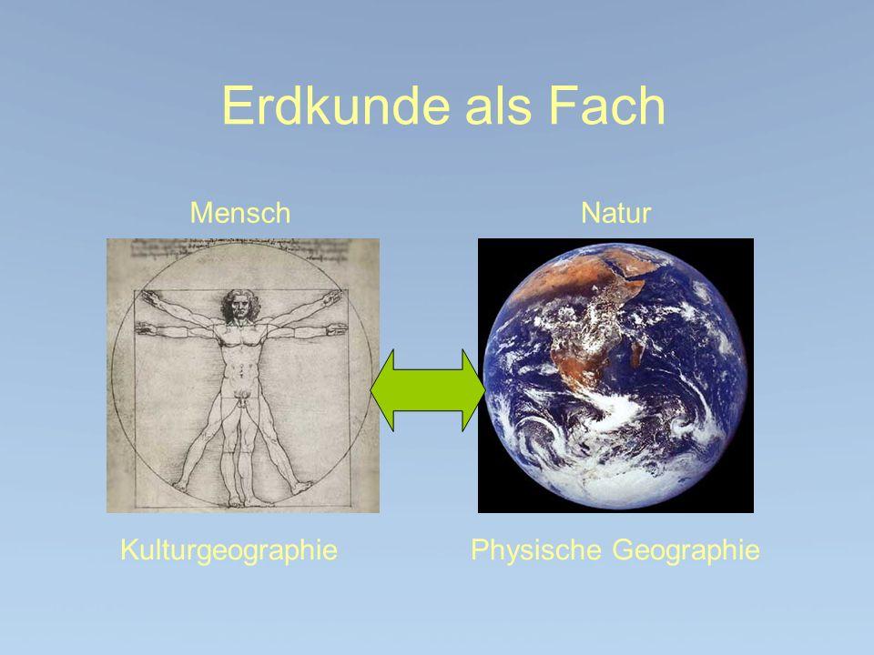 Kulturgeographie Physische Geographie