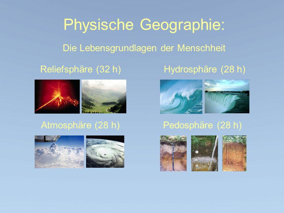 Physische Geographie: Die Lebensgrundlagen der Menschheit