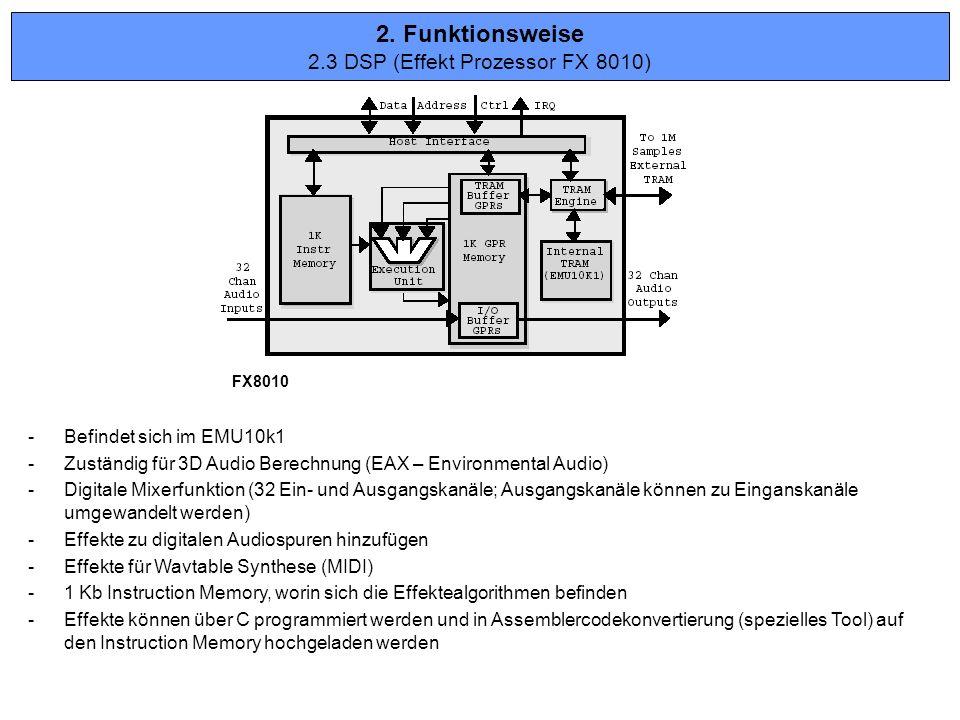 2.3 DSP (Effekt Prozessor FX 8010)