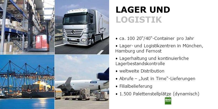 LAGER UND LOGISTIK ca. 100 20 /40 -Container pro Jahr