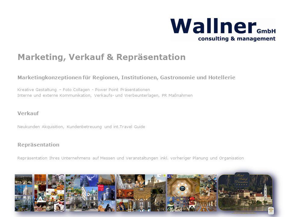 Marketing, Verkauf & Repräsentation