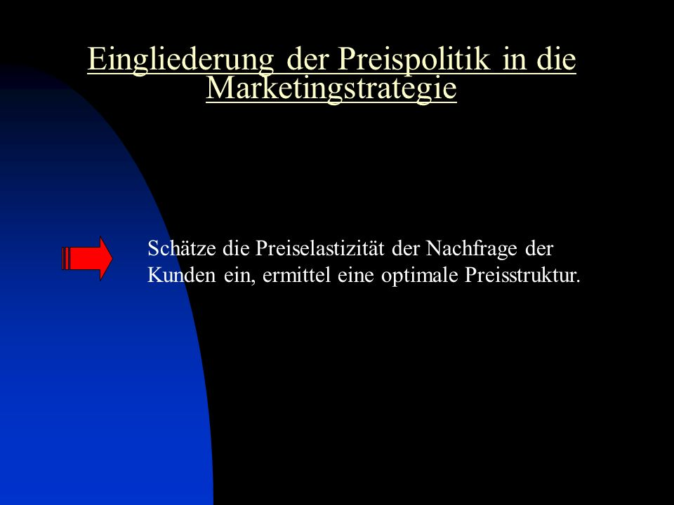 Eingliederung der Preispolitik in die Marketingstrategie