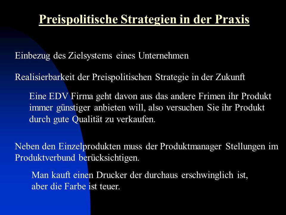 Preispolitische Strategien in der Praxis