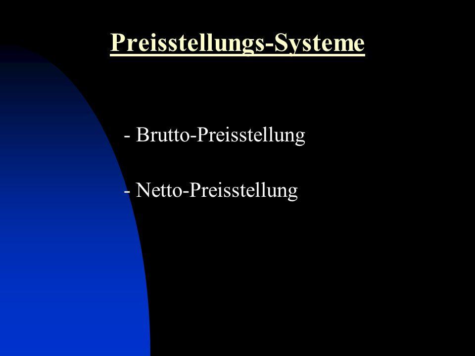 Preisstellungs-Systeme
