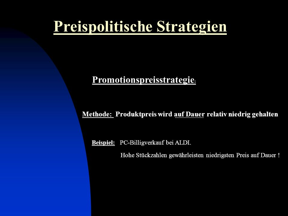 Promotionspreisstrategie: