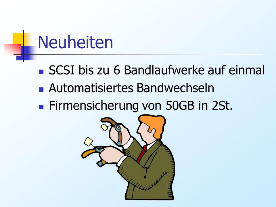 Neuheiten SCSI bis zu 6 Bandlaufwerke auf einmal