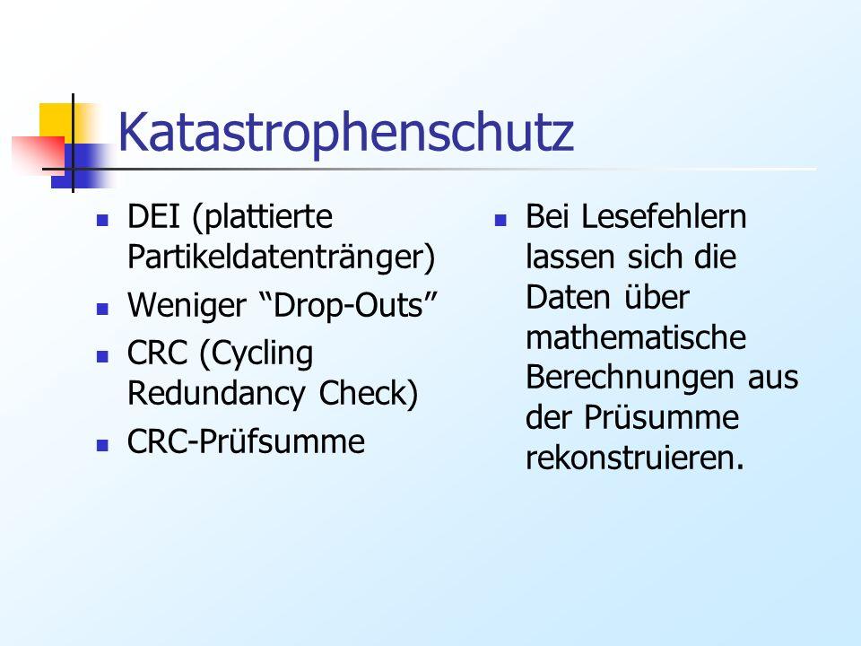 Katastrophenschutz DEI (plattierte Partikeldatentränger)