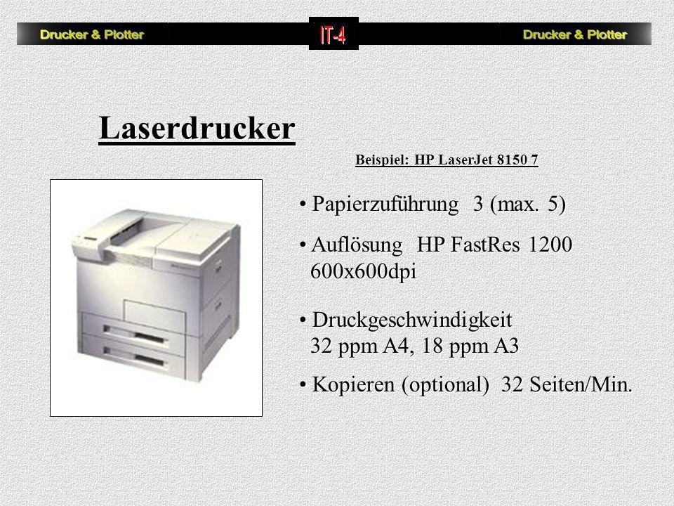 Laserdrucker Papierzuführung 3 (max. 5) Auflösung HP FastRes 1200
