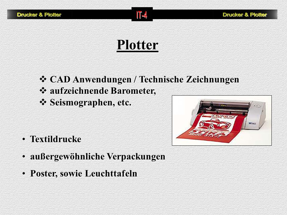 Plotter CAD Anwendungen / Technische Zeichnungen