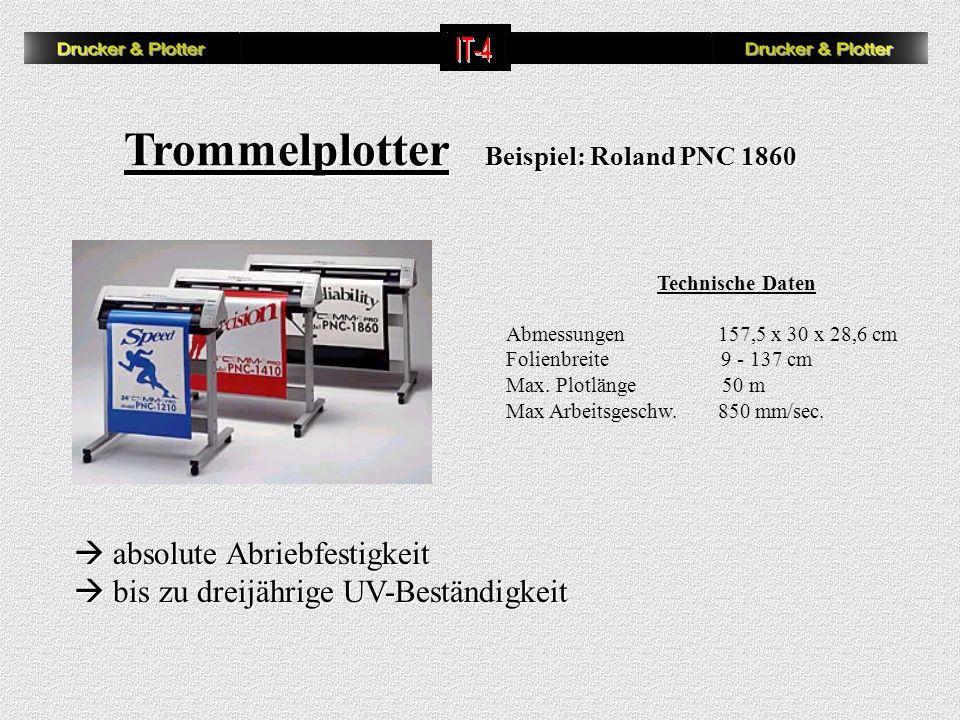 Trommelplotter Beispiel: Roland PNC 1860