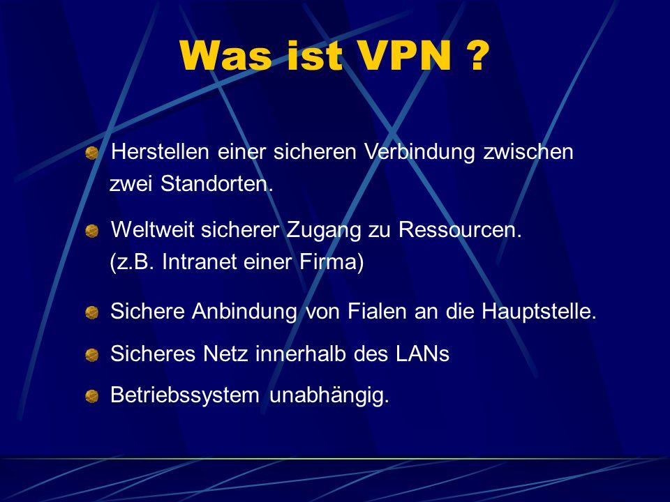Was ist VPN Herstellen einer sicheren Verbindung zwischen