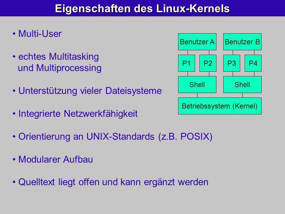 Eigenschaften des Linux-Kernels