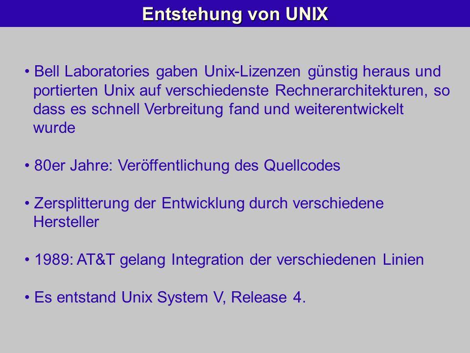 Entstehung von UNIX