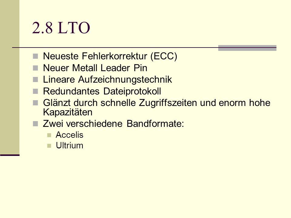 2.8 LTO Neueste Fehlerkorrektur (ECC) Neuer Metall Leader Pin