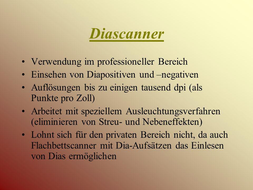 Diascanner Verwendung im professioneller Bereich