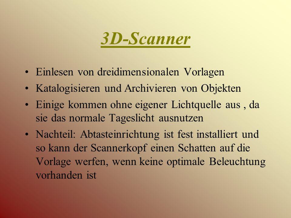 3D-Scanner Einlesen von dreidimensionalen Vorlagen