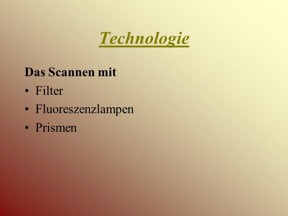 Technologie Das Scannen mit Filter Fluoreszenzlampen Prismen
