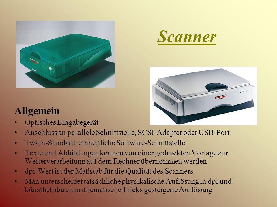 Scanner Allgemein Optisches Eingabegerät