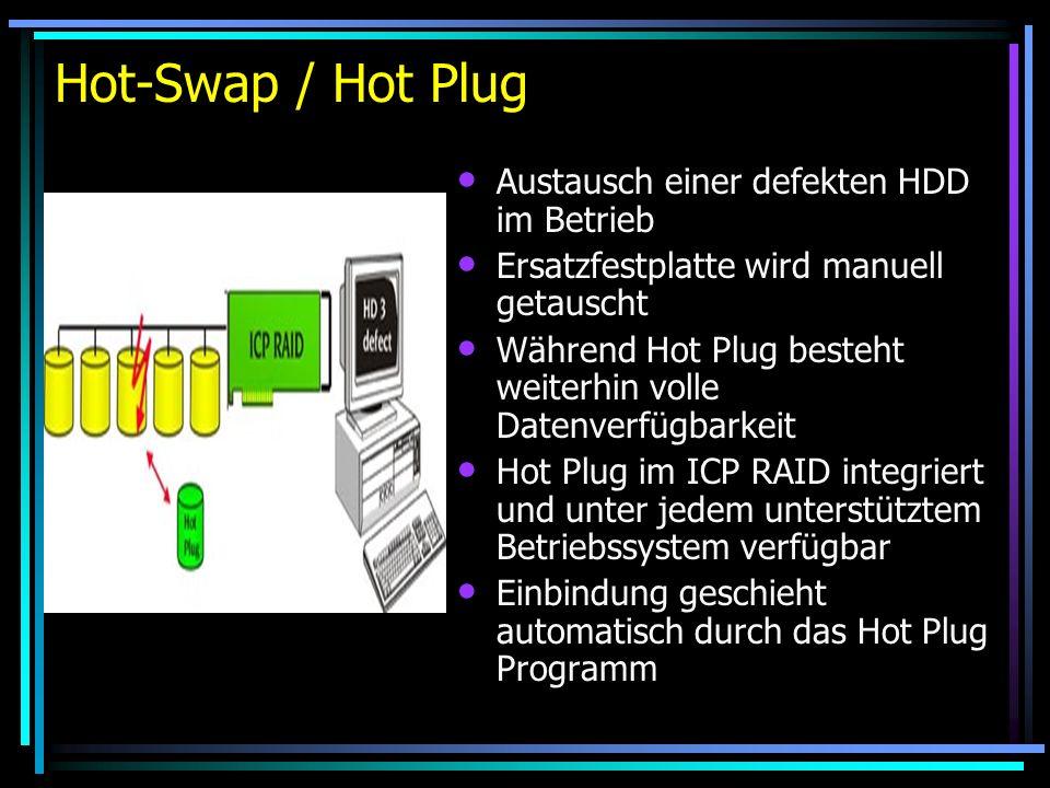 Hot-Swap / Hot Plug Austausch einer defekten HDD im Betrieb