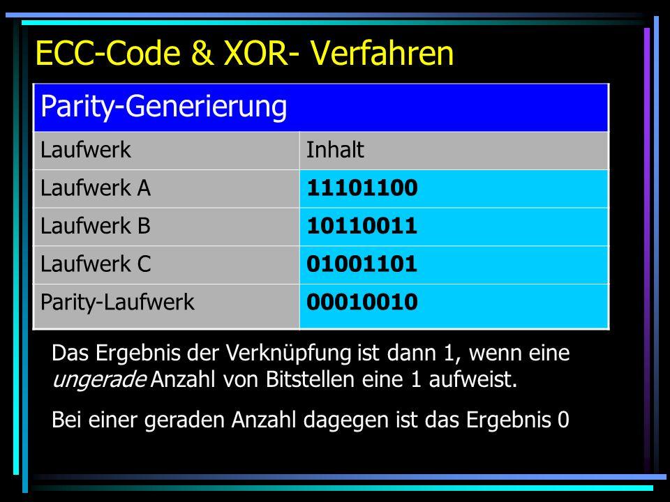 ECC-Code & XOR- Verfahren