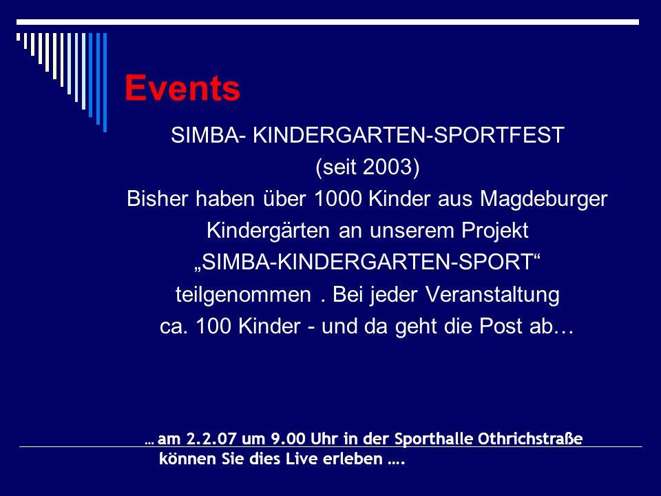 Events SIMBA- KINDERGARTEN-SPORTFEST (seit 2003)