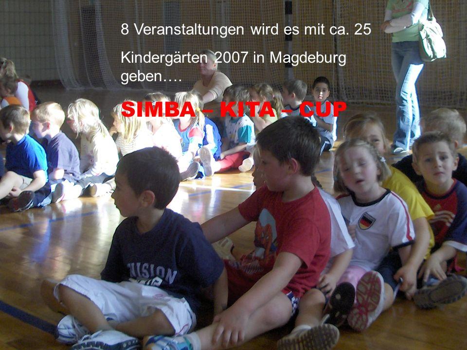 SIMBA – KITA – CUP 8 Veranstaltungen wird es mit ca. 25