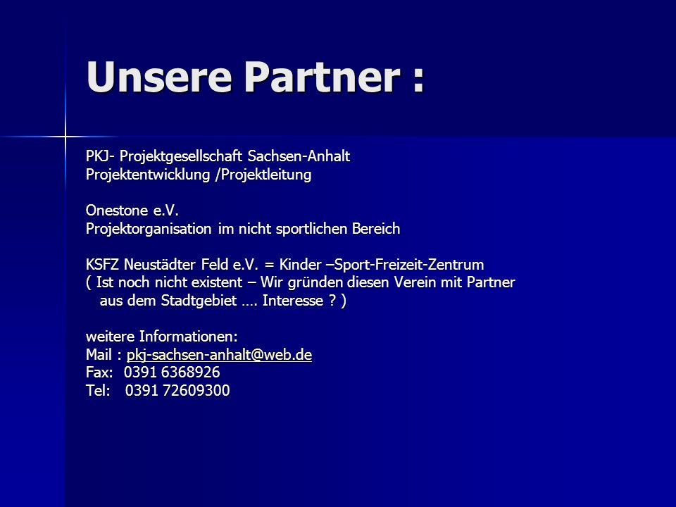 Unsere Partner : PKJ- Projektgesellschaft Sachsen-Anhalt