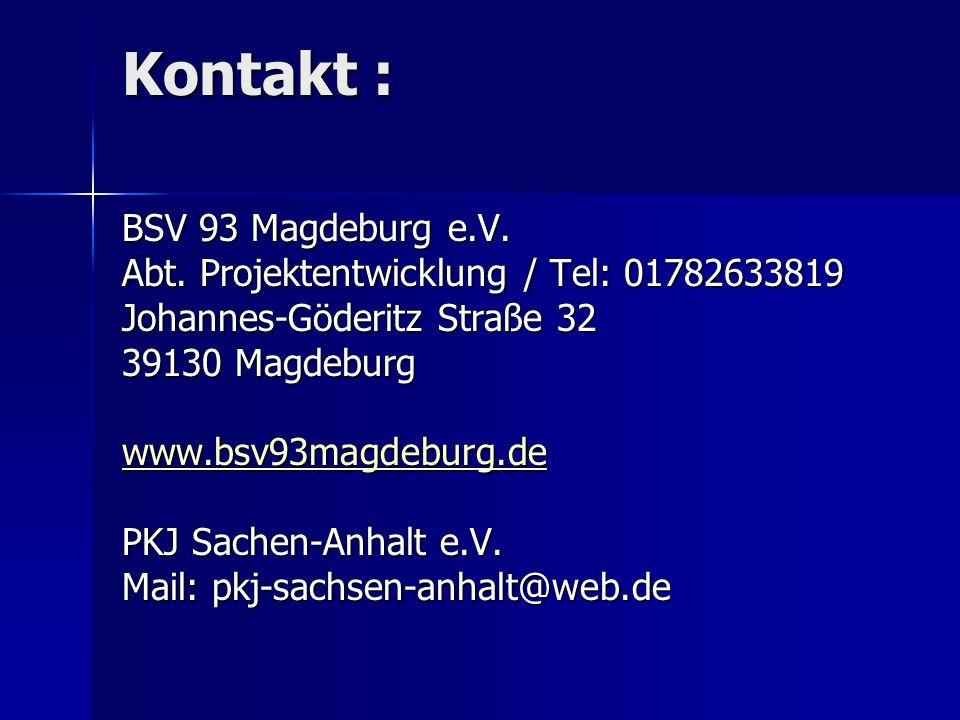 Kontakt : BSV 93 Magdeburg e.V.
