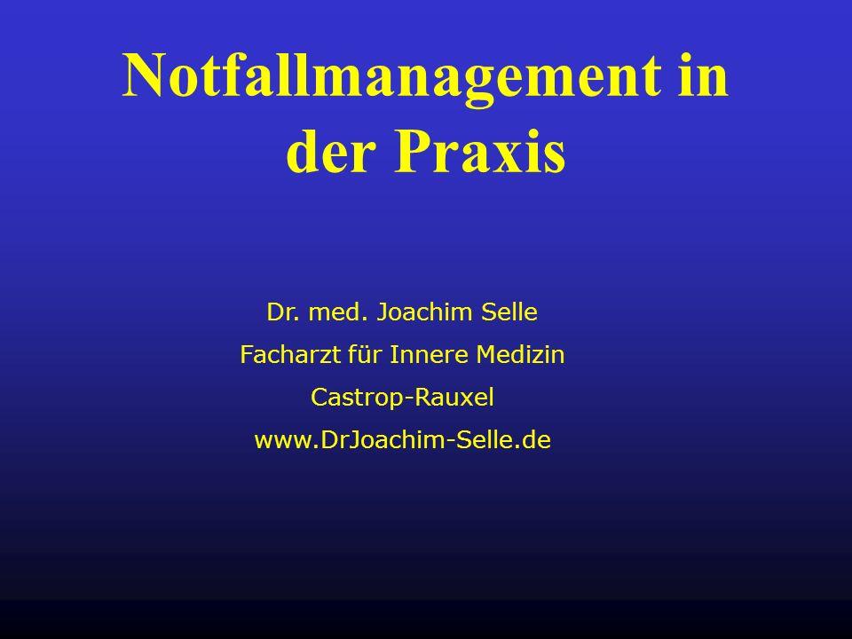 Notfallmanagement in der Praxis