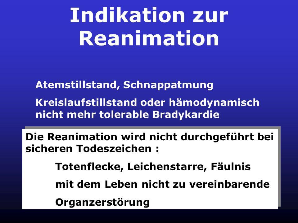 Indikation zur Reanimation