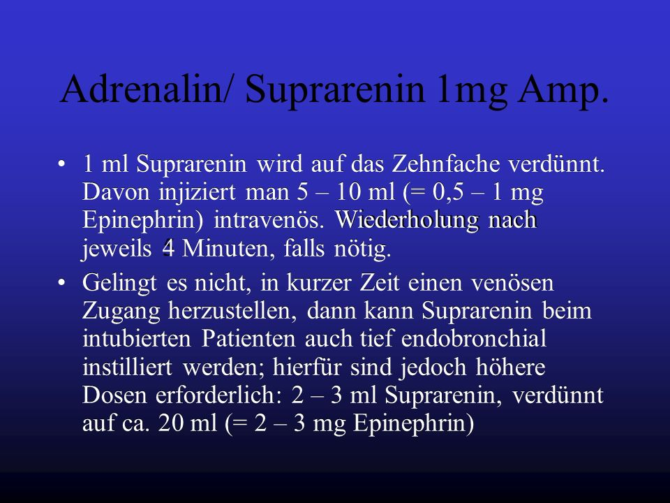 Adrenalin/ Suprarenin 1mg Amp.
