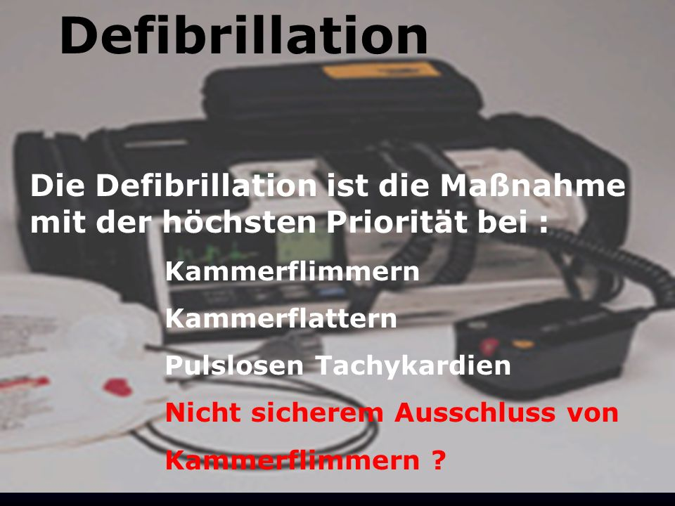 Defibrillation Defibrillation
