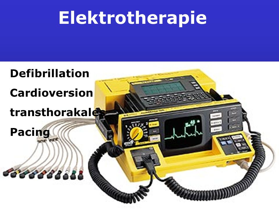 Elektrotherapie Defibrillation Cardioversion transthorakales Pacing
