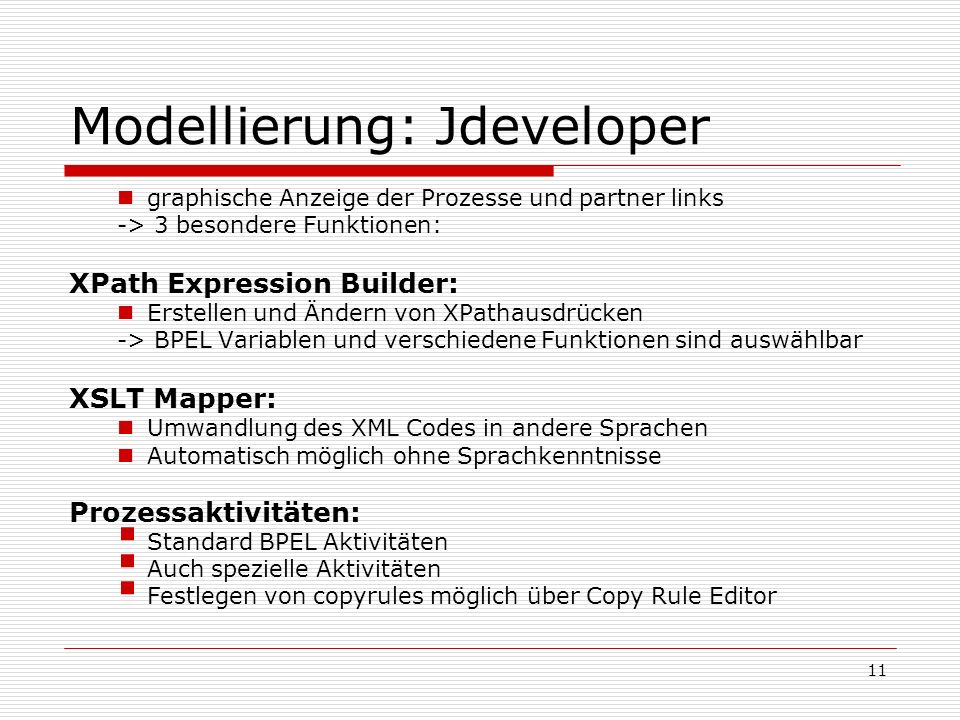Modellierung: Jdeveloper