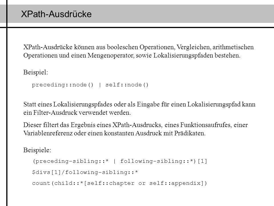 XPath-Ausdrücke