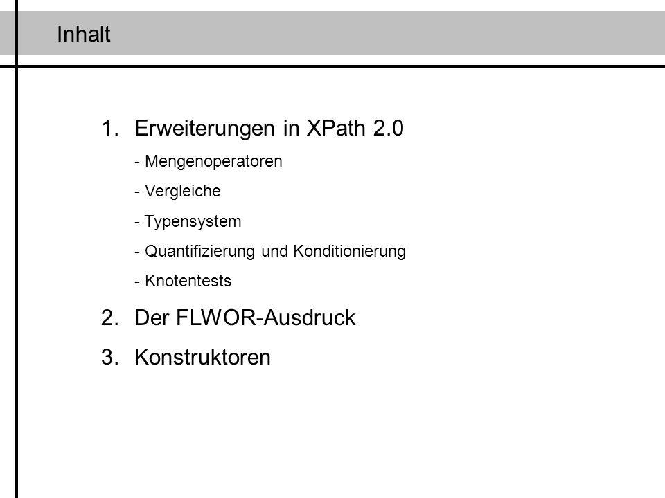 Erweiterungen in XPath 2.0