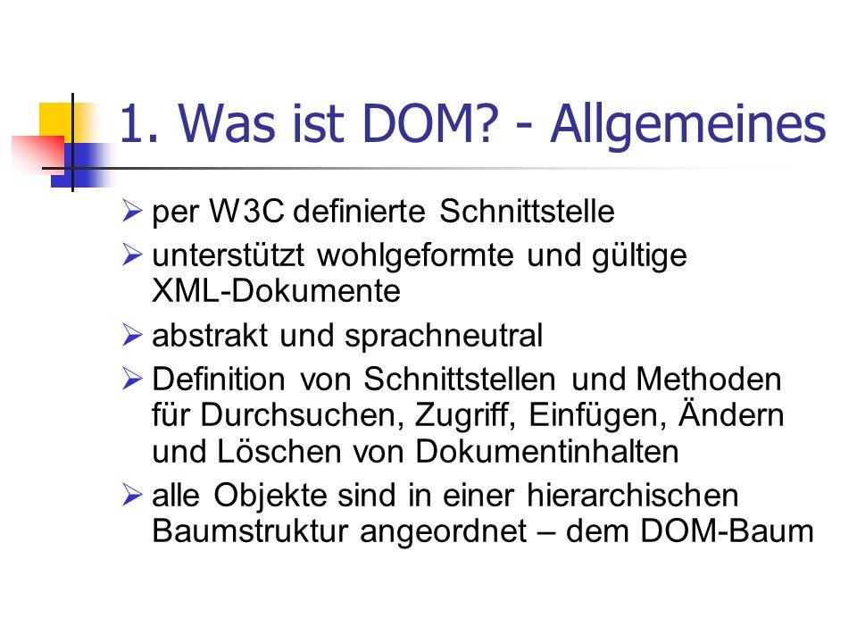 1. Was ist DOM - Allgemeines