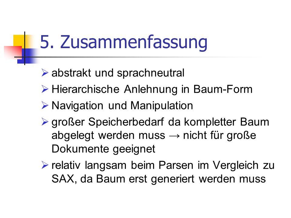 5. Zusammenfassung abstrakt und sprachneutral