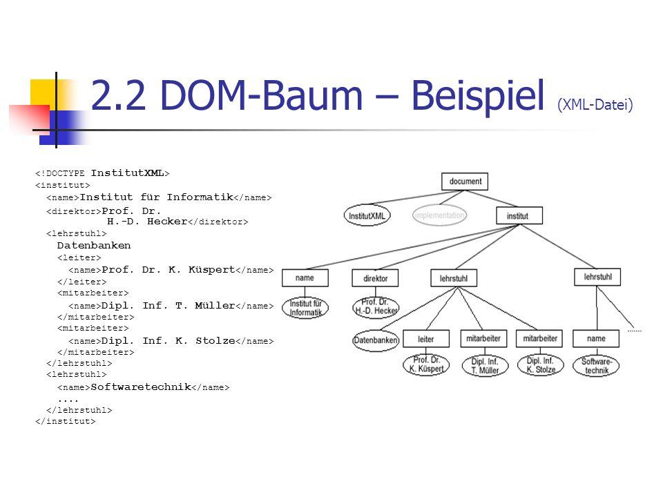 2.2 DOM-Baum – Beispiel (XML-Datei)