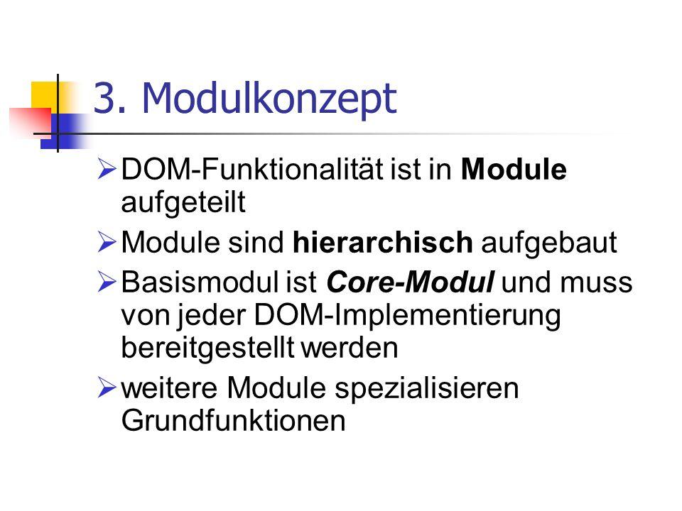 3. Modulkonzept DOM-Funktionalität ist in Module aufgeteilt