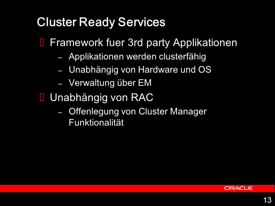 Cluster Ready Services