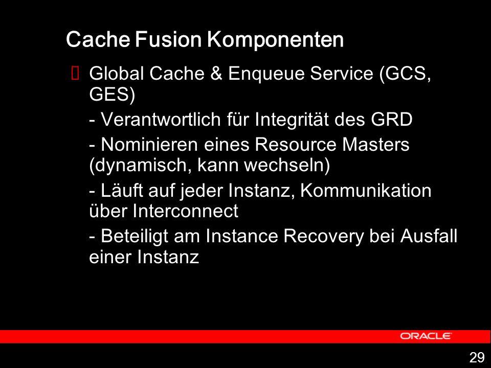 Cache Fusion Komponenten