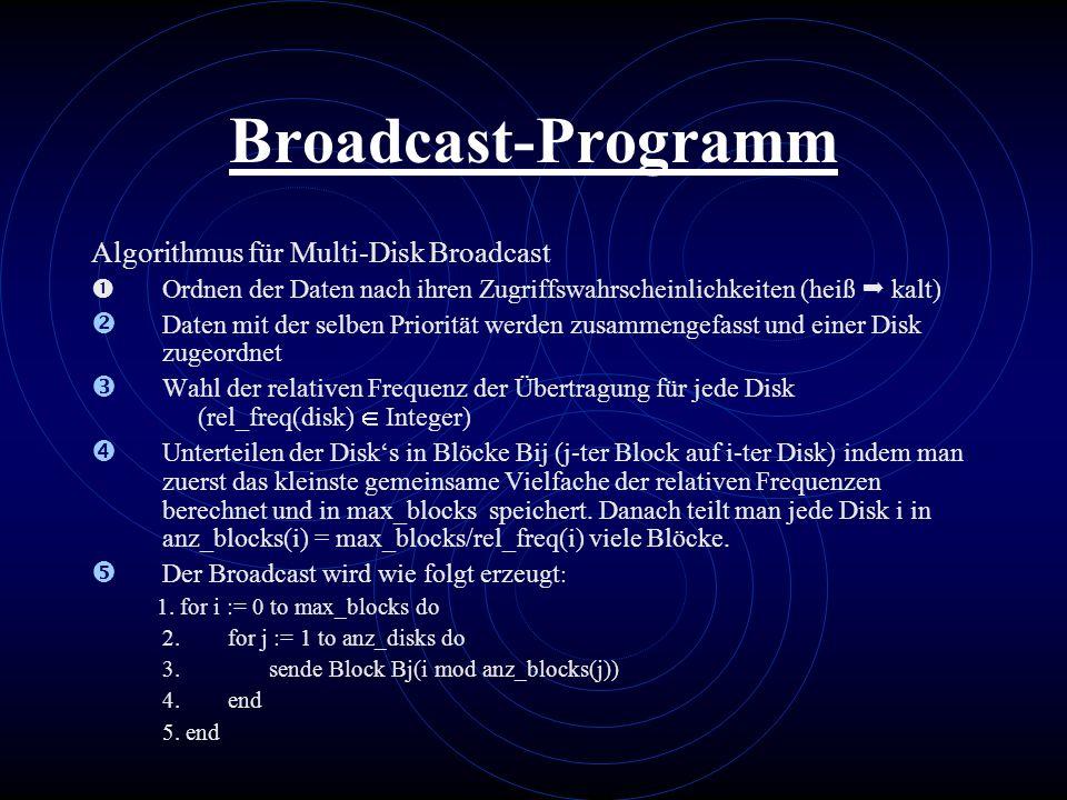 Broadcast-Programm Algorithmus für Multi-Disk Broadcast