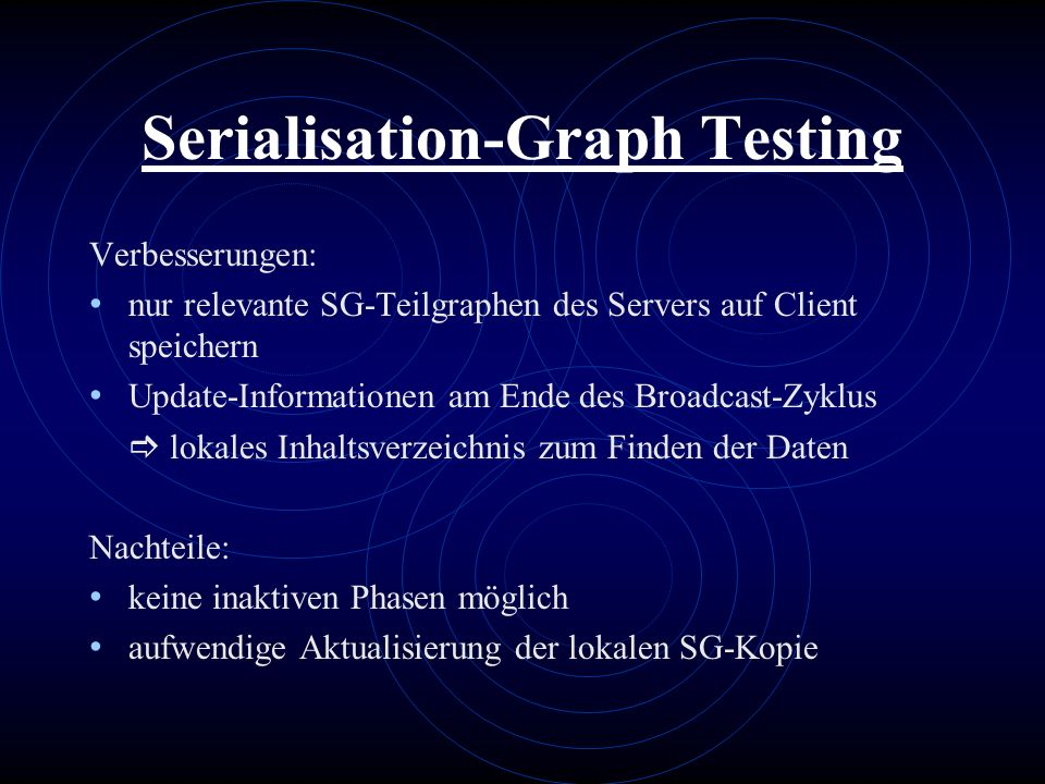 Serialisation-Graph Testing