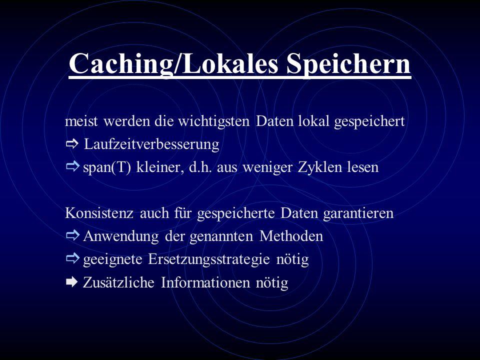 Caching/Lokales Speichern