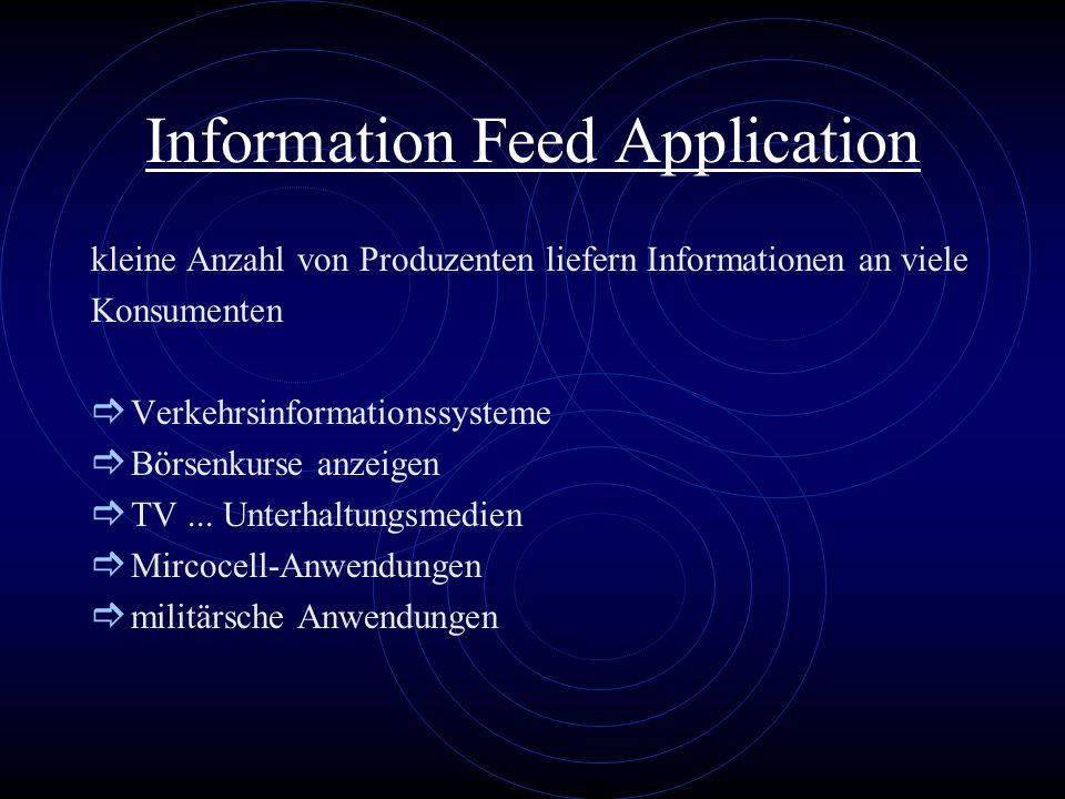Information Feed Application