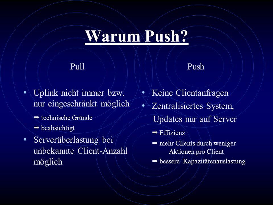 Warum Push Pull Uplink nicht immer bzw. nur eingeschränkt möglich