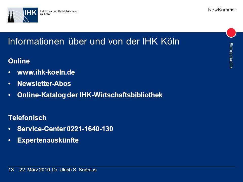Informationen über und von der IHK Köln