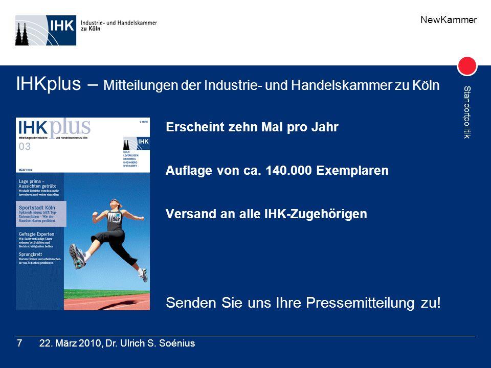 IHKplus – Mitteilungen der Industrie- und Handelskammer zu Köln