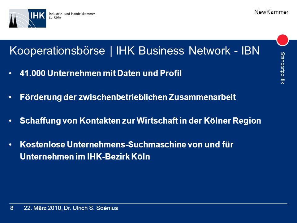 Kooperationsbörse | IHK Business Network - IBN